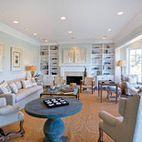 Coastal Family Room - traditional - family room - los angeles - DTM INTERIORS