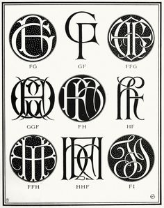 monograms & cyphers / albert angus turbayne