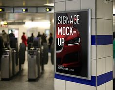FREE Smart Advertising Signage | PSD TEMPLATE MOCKUP