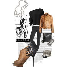 """Tough Love - RockStar Skinny Jeans @ Old Navy"" by stylefinds on Polyvore"