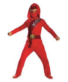 Red Fire Ninja Dress-Up Set - Kids