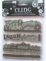 "Image result for hampton art ditto cling rubber stamp set ""Happy Holidays"""