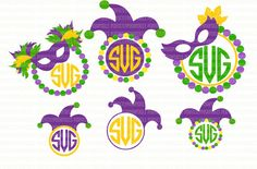 Mardi Gras Monograme Frame SVG File DXF eps png jpg Printable Silhouette Studio Designer Edition Cameo Circuit Design Space Cut File Iron On  THIS IS A DIGITAL FILE - YOU WILL NOT RECEIVE ANYTHING IN THE MAIL This is a compressed zip containing the following files: (SVG, DXF, EPS, PNG, JPG) ________________________________________ Vinyl cutters and the file compatible files with each. * Cricut Design Space: DXF & SVG * Silhouette Studio Designer Edition: SVG * Brother ScanNCut: SVG * Sur...