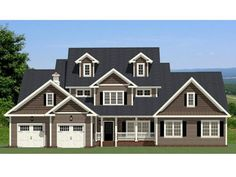 067H-0039: Luxury Country House Plan with Main Floor Master