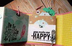 Inspírate II: Dreamy de Heidi Swapp. Mini álbum con El scrap de Pe #scrapbooking #heidiswapp #dreamy Heidi Swapp, Mini Albums, Blog, Scrapbooking, Happy, Projects, How To Make, Art, Log Projects
