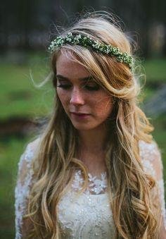 Simple Babies Breath Natural Bridal Crown ~ La Bella Bridal Accessories More
