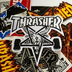 @soyPINDEJO is now an authorized retailer of @ThrasherMag gear. Get your patches now (link in their bio)  . .  #lapelpins #hatpin #pinstagram #pins #patchgame #patches #hatpins #lapelpin #hatpins #lapelpins #bottleopeners #thrashermagazine #skategoat #skateboarding #pindejo by patchgame