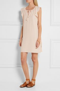 Chloé   Flutter-sleeve cady mini dress   NET-A-PORTER.COM