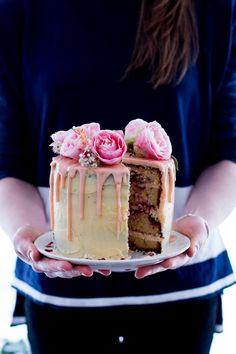 Lemon, Almond & Raspberry Layer Cake | The Brick Kitchen