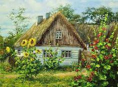 Картинки по запросу домик в деревне лето