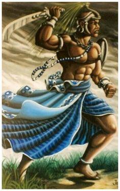 Ogun/Ogum, Orisha of war and iron (by Jerri d'Oxóssi, Brazil) African American Art, African Art, Yoruba Orishas, African Mythology, Yoruba Religion, Yoruba People, Black Artwork, Afro Art, God Of War