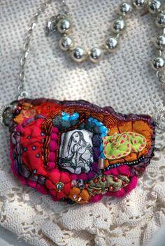 Scraps fabric jewelry.