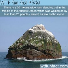 Rockall, the rock in the middle of the ocean. 20 people have stood here, almost as few as the moon.