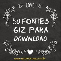 blog Vera Moraes - Decoração - Adesivos Azulejos - Papelaria Personalizada - Templates para Blogs: 50 Fontes Giz para download - Efeito lousa