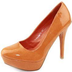 Amazon.com: Women's Qupid Crinkled Patent Leather Round Toe Platform Stilettos High Heel Pumps Dress Fashion Shoes: $28.74