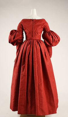 Dress Date: ca. 1837 Culture: American Medium: silk Dimensions: Length: 30 1/2 in. (77.5 cm) Credit Line: Rogers Fund, 1937