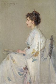 Sir john longstaff:_lady in grey James Abbott Mcneill Whistler, Classic Paintings, Beautiful Paintings, Whistler's Mother, Arte Fashion, Gothic Fashion, Art Japonais, Classical Art, Western Art