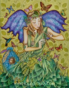 Fairy Song A Fine Art Greeting Card от HollySierraArt на Etsy