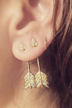 nice WANTED STYLE - Arrow earrings // buy here and here