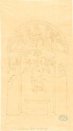 Relevé de la paroi est - intérieur de la tour de Veyrines