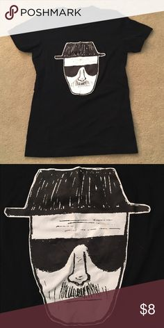 Heisenberg t-shirt Black Heisenberg shirt (from Breaking Bad). Only worn once. Tag says women's medium but fit is more like a small to me. Only worn once! No stains, holes or snags. Tops Tees - Short Sleeve
