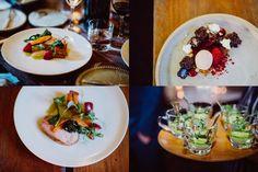 Gourmet wedding food at Timberyard wedding venue, Edinburgh © Babb Photo