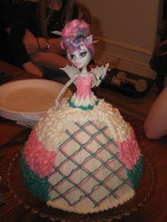 Monster High Doll Cake. Made for Lindsay 2013