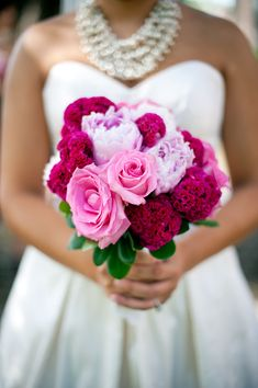 the bride holding beautiful bouquet of flowers- photo by Houston based wedding photographer Adam Nyholt