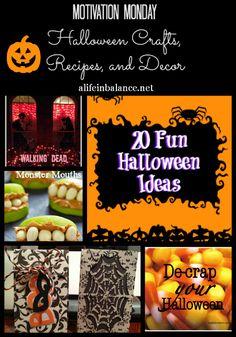 20 Halloween craft recipe and decoration ideas! via @barbhoyer