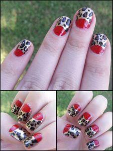 Red Leopard Manicure!