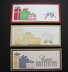 Lynn's money holder cards using Your Presents and the Envelope Punch Board, including instructions. All supplies from Stampin' Up!