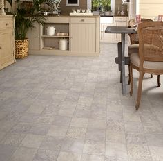 Append A Stylish Emergence And Existing Design To Your Decor By Choosing TrafficMASTER Marbella Tile Neutral Residential Vinyl Sheet Flooring