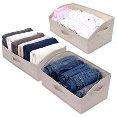 10 Organization Tips To Get Your Closet In Order Closet Storage Bins, Fabric Storage Boxes, Storage Hacks, Storage Solutions, Storage Ideas, Basket Organization, Container Organization, Closet Organization, Organizer Bins