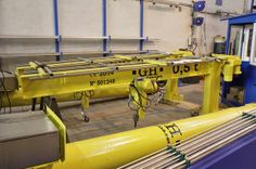 industrial jib crane with 3.7 m arm, 5.3 m HOL and 0.5 t lifting capacity. GH Cranes & Components