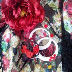 #Complementos de flamenca en rojo para tu traje de gitana de Chic Atelier. #modaflamenca