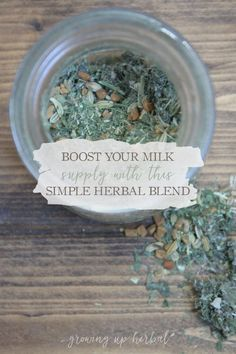 How To Boost Your Milk Supply With This Simple Herbal Blend | Growing Up Herbal | If you're a nursing mama and looking for a natural way to boost your milk supply this herbal blend may be just the thing to help you and your milk supply. Natural Remedies For Migraines, Natural Health Remedies, Herbal Remedies, Herbs For Health, Health And Wellness, Health Diet, Health Care, Benefits Of Organic Food, Milk Supply
