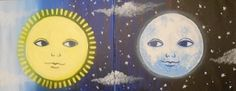 Celestial Couple @ Pinot's Palette The Woodlands Double Canvas Date Night Painting