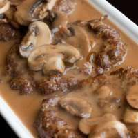 Jaegerschnitzel (Pork Cutlet with Mushroom Gravy) | The Domestic Man - VERY IMPORTANT TO MAKE ALL SUGGESTED ALTERATIONS FOR PALEO : arrowroot flour for potato starch, coconut oil for butter, coconut flour for rice flour and coconut milk for heavy cream.