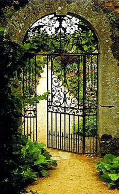 English garden gate,Rousham House.