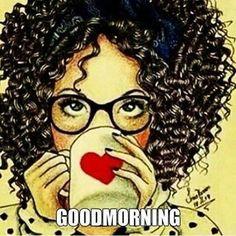 En mode grasse matinée #goodmorning #bonnejournee #afro #illustration