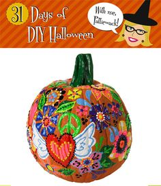 Puff Paint Pumpkin - Why didn't I think of that?