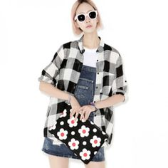 Today's Hot Pick :Check Pattern Oversized Shirt http://fashionstylep.com/P0000ZDL/ju021026/out This check dress shirt will never go out of style. It has a band collar, front button-down closure, breast pocket, long-sleeves, loose fit, and chic checkered pattern. Make it a tad bit modern by wearing it as a topper with a plain dress and nude pumps.