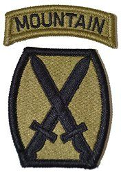 NSN: 8455-01-647-6594 (UNIT PATCH, 10TH MOUNTAIN DIVISION (10TH MTN), MULTICAM / OCP) - ArmyProperty.com