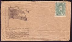 RARE Confederate States Patriotic Cover WITH CSA Stamp #1