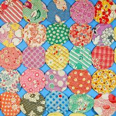 vintage yo yo quilt