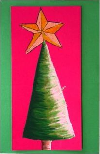 Christmas Tree Art for Kids - Elementary Art Lesson with Instructions