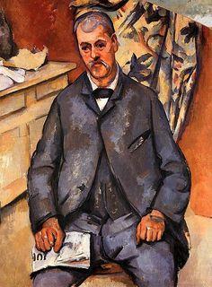 Seated Man Paul Cezanne - circa 1898-1900