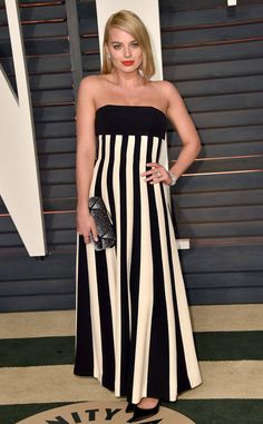 A Stroke of Stylistic Genius from Margot Robbie's Best Looks  The actress ravished in Dior at the 2015 Vanity Fair Oscar Party.