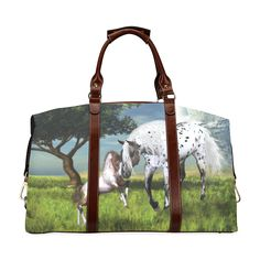 """Looking for great deals on """"Sale Horses Love Forever Duffel Bag""""? Compare prices from the top online luggage and bag retailers. Save money when buying duffel bags for travel and school. Horse Pictures, Horse Love, Duffel Bag, Travel Bag, Cuddling, Horses, Classic, Model, Bags"""