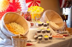 Popcorn party and popcorn bar